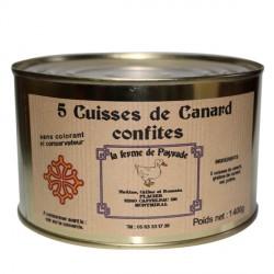 5 Cuisses de Canard confites 1400g